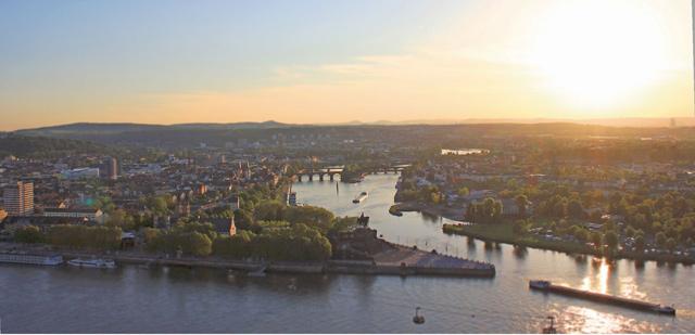 Horizonte World Music Festival - Festung Ehrenbreitstein - Blick auf Koblenz